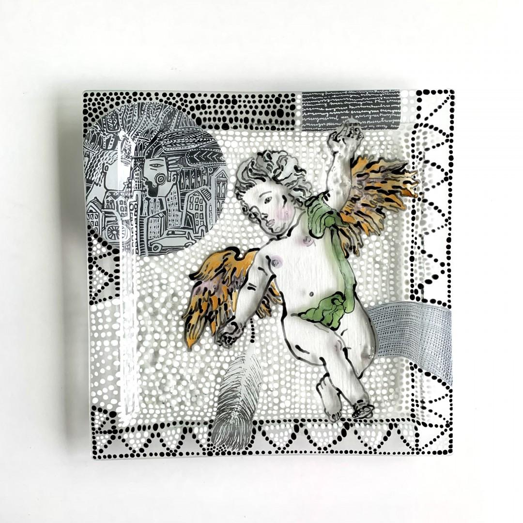 Patera / obrazek z barokowym aniołem No. 1