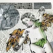 Patera / obrazek z barokowym aniołem No.1