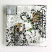 Patera / obrazek z barokowym aniołem No.2